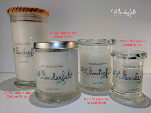 Wonderful Scents Status Jar Scented Soy Wax Candles