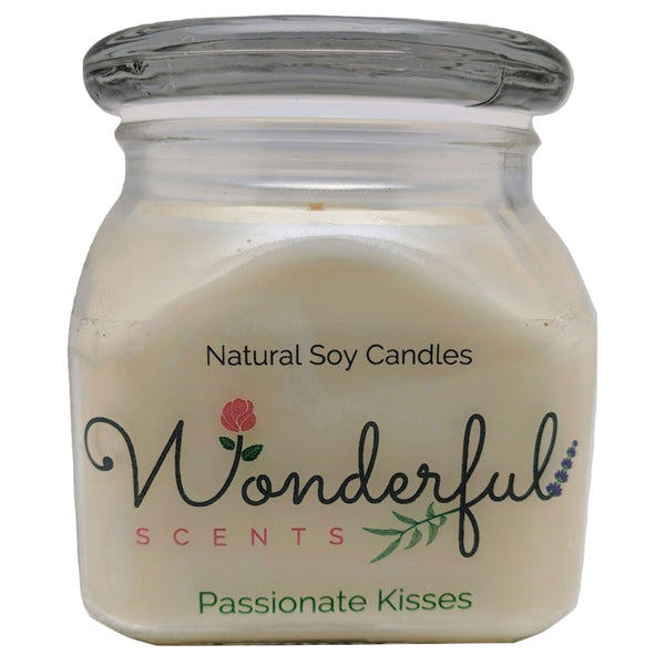 12oz Scented Bakery Jar Candle Passionate Kisses Cotton Wick Glass Lid