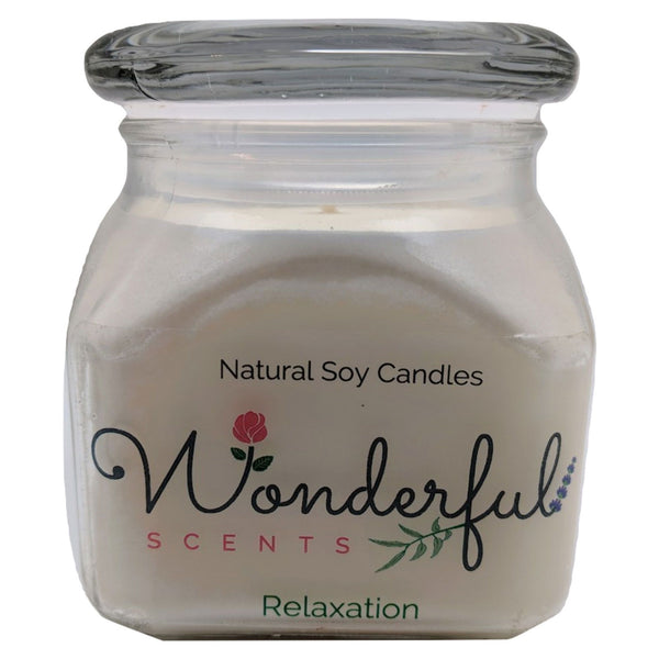 12oz Scented Bakery Jar Candle Relaxation Cotton Wick Glass Lid