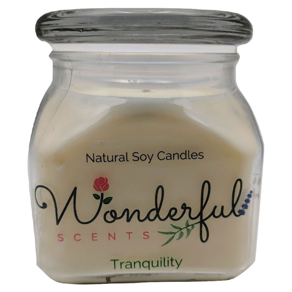 12oz Scented Bakery Jar Candle Tranquility Cotton Wick Glass Lid 2000x2000