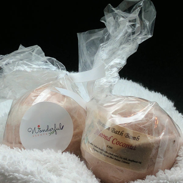 Almond Coconut Bath Bomb 4.5oz Two Pack