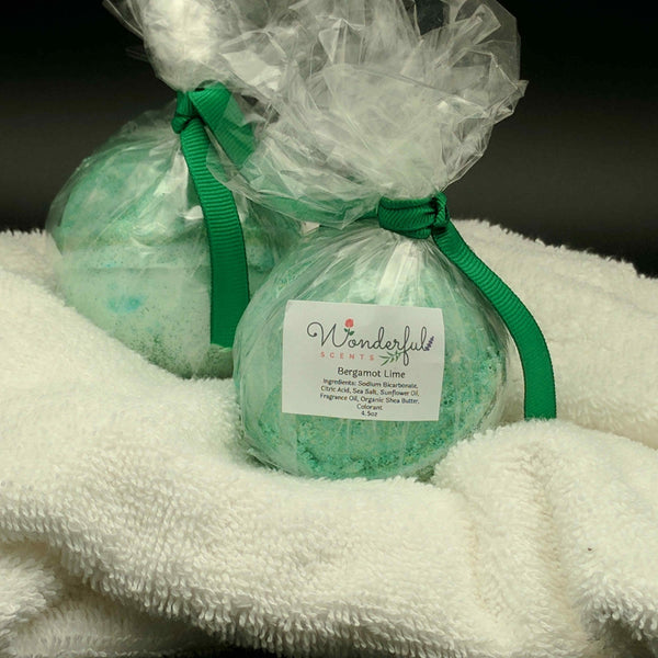 Bergamot Lime Bath Bomb 4.5oz 2pk