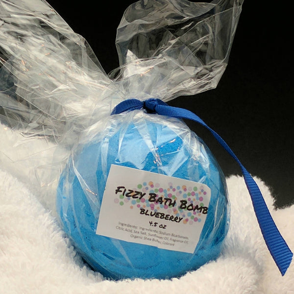 Blueberry Bath Bomb Bath Fizzy 4.5 oz