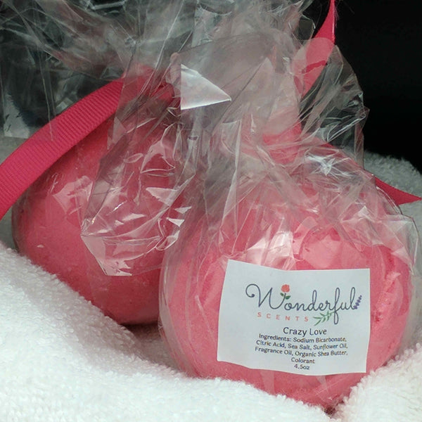 Crazy Love Bath Bomb 4.5oz 2PK