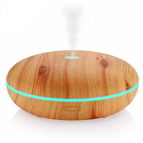 350 ml Essential Oil Diffuser With Cool Mist & Color LED Light Wood