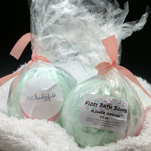 Flower Garden Bath Bomb 4.5oz Two Pack
