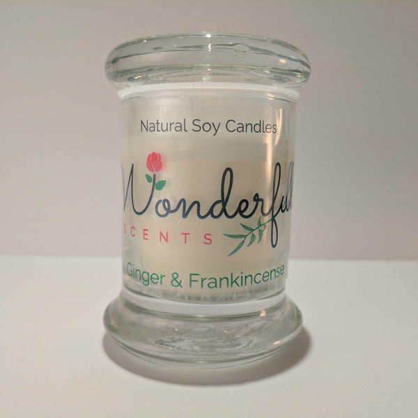 Soy Wax 2.75 oz Status Jar Scented Ginver and Frankincense