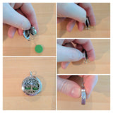 Instructions on opening the Essential Oil Locket