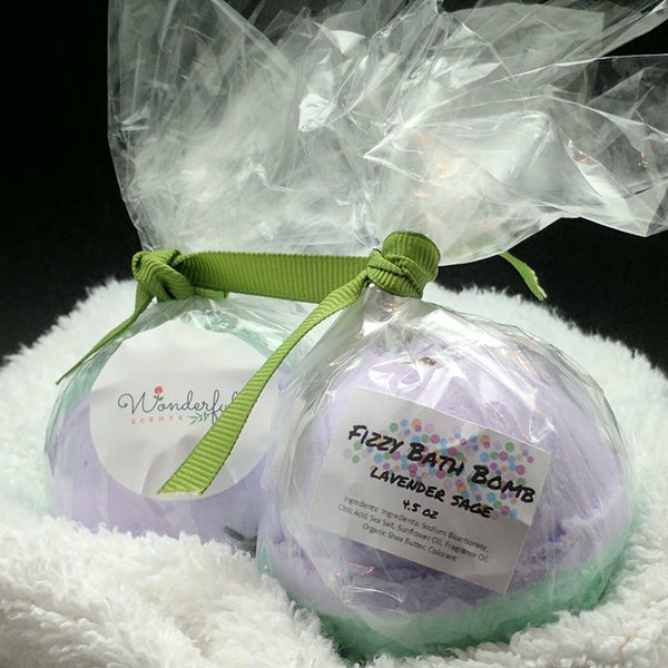 Lavender Sage Bath Bomb 4.5oz Two Pack