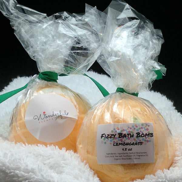 Lemongrass Bath Bomb 4.5oz Two Pack
