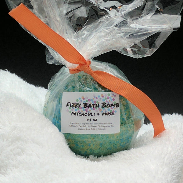 Patchouli and Musk Bath Bomb Bath Fizzy 4.5 oz