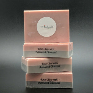 Rose Clay Activated Charcoal Soap