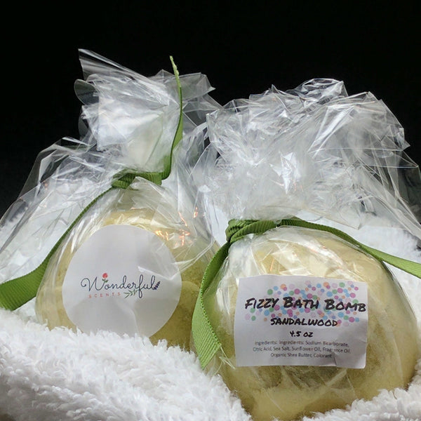 Sandalwood Bath Bomb 4.5oz Two Pack