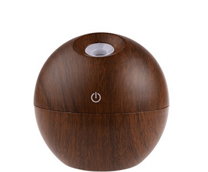 Dark Wood Grained 130ml Essential Oil USB Diffuser with LED Standard