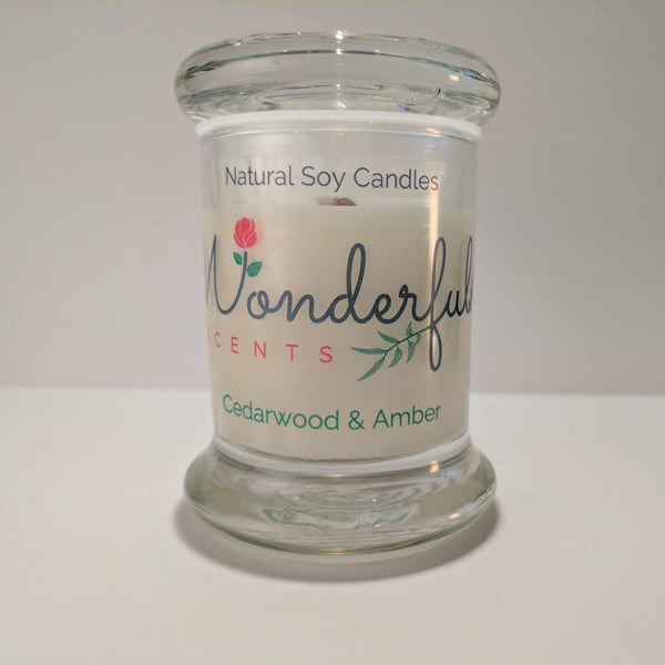 Soy Wax 2.75 oz Status Jar Scented Cedarwood and Amber