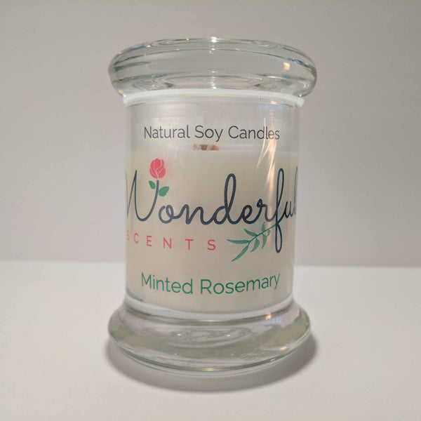 Soy Wax 2.75 oz Status Jar Scented Minted Rosemary Compressed