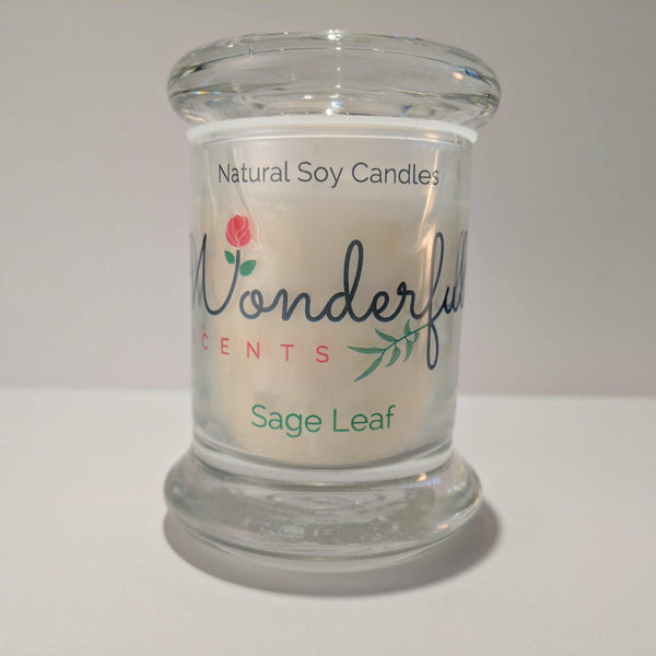 Soy Wax 2.75 oz Status Jar Scented Sage Leaf