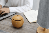 Light Wood Grained USB 130 ml Ultrasonic Cool Mist Essential Oil Diffuser with LED