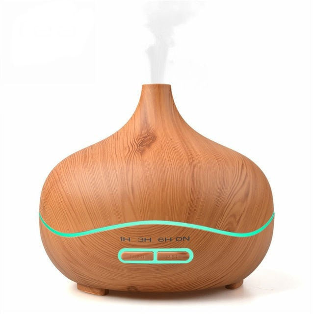 300 ml Light Wood Grain Ultrasonic Aroma Essential Oil Diffuser