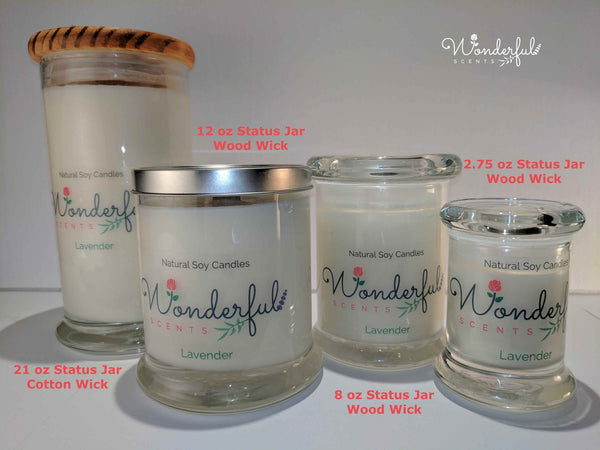 Wonderful Scents Soy Wax Status Jar Collection