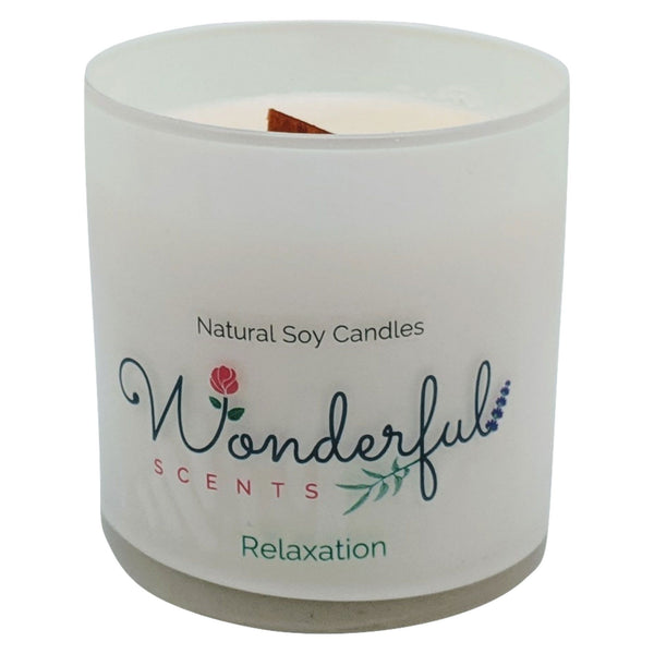 Wonderful Scents 11 oz Tumbler Candle Wood Wick Relaxation