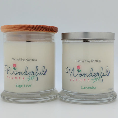 Wonderful Scents 12.5 oz Soy Wax Candle With Wood Wick