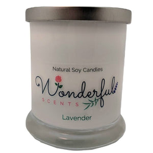Wonderful Scents Opaque Status Jar Soy Candle Lavender Scented