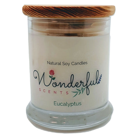 Wonderful Scents 12 oz Wood Wick Scented Candle Eucalyptus