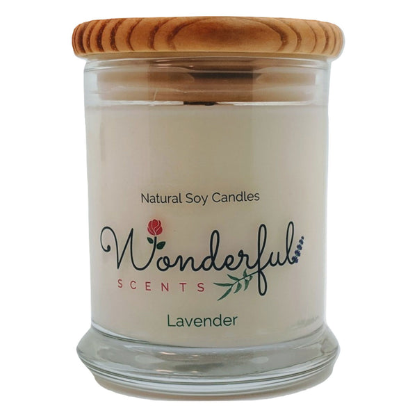 Wonderful Scents 12 oz Wood Wick Scented Candle Lavender