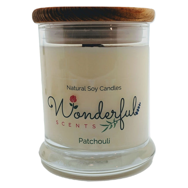 Wonderful Scents 12 oz Wood Wick Scented Candle Patchouli