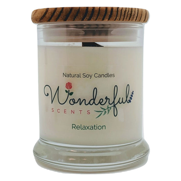 Wonderful Scents 12 oz Wood Wick Scented Candle Relaxation