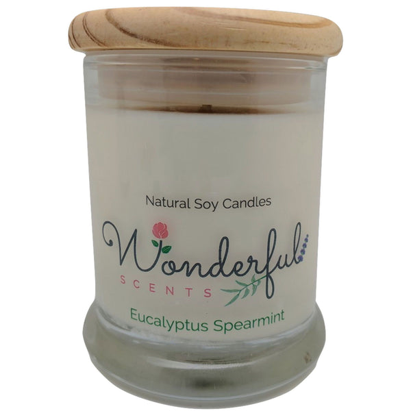 Wonderful Scents 12oz Soy Eucalyptus Spearmint Candle with Cotton Wick