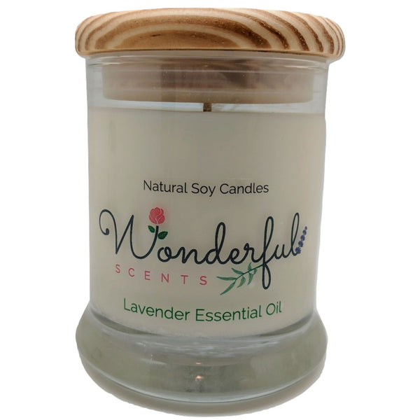 Wonderful Scents 12oz Soy Lavender Candle with Cotton Wick