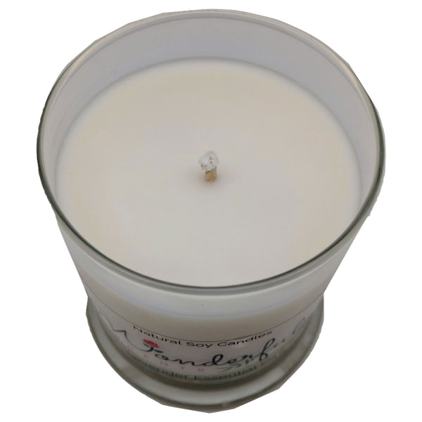 Wonderful Scents 12oz Soy Lavender Candle with Cotton Wick Shown
