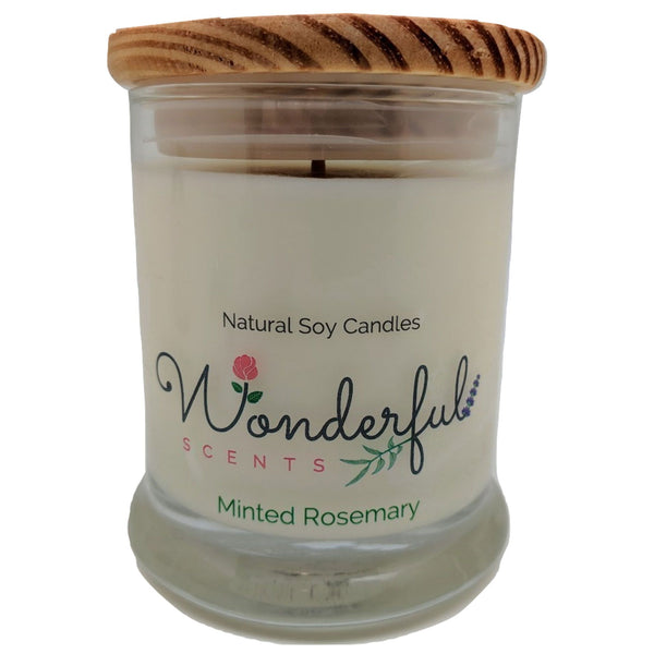 Wonderful Scents 12oz Soy Minted Rosemary Candle with Cotton Wick