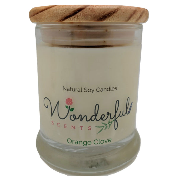 Wonderful Scents 12oz Soy Orange Clove Candle with Cotton Wick