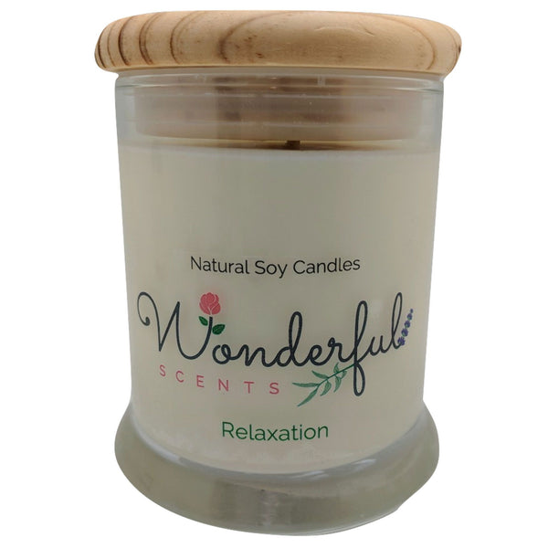 Wonderful Scents 12oz Soy Relaxation Candle with Cotton Wick