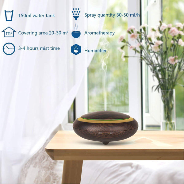 Wonderful Scents 150 ml Dark Wood Diffuser With Remote Specifications