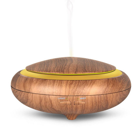 150 ml Ultrasonic Aroma Diffuser Woodgrain + Remote Control (Optional)