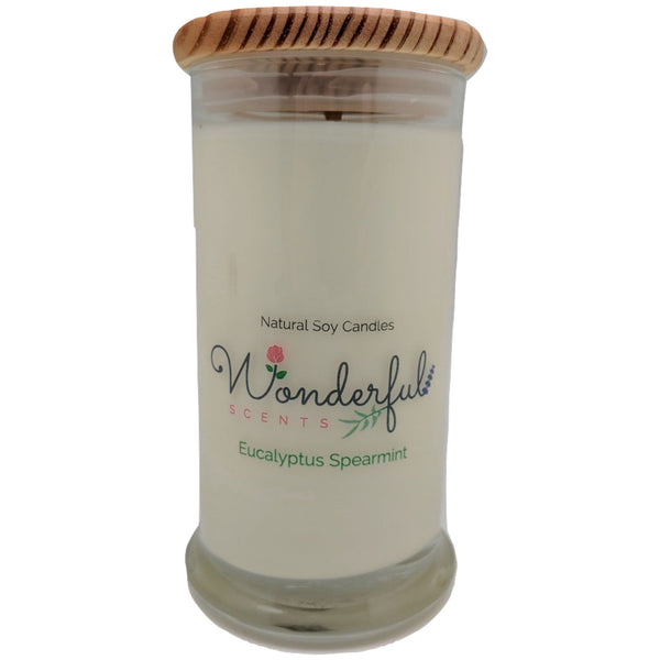 Wonderful Scents 21oz  Eucalyptus Spearmint Candle with Cotton Wick