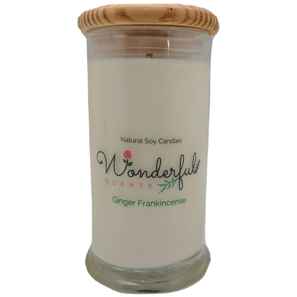 Wonderful Scents 21oz  Ginger Frankincense with Cotton Wick