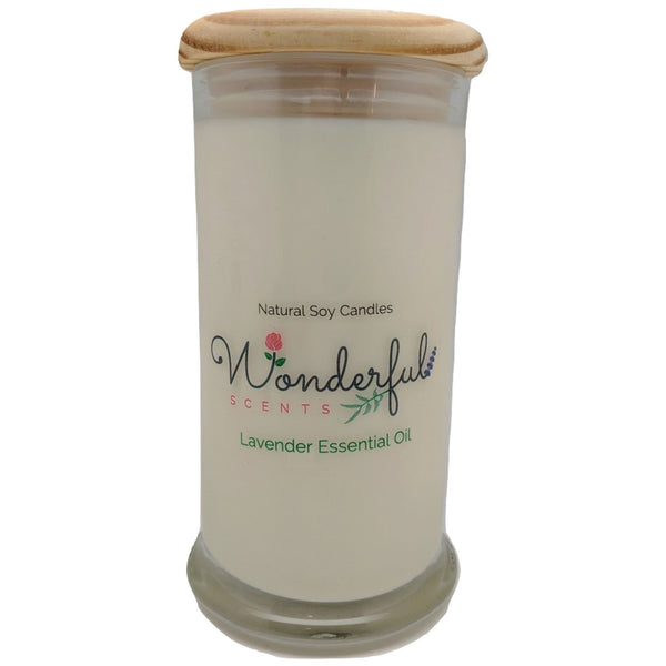 Wonderful Scents 21oz  Lavender Essential Oil with Cotton Wick