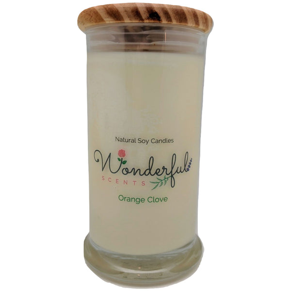 Wonderful Scents 21oz  Orange Clove Candle with Cotton Wick