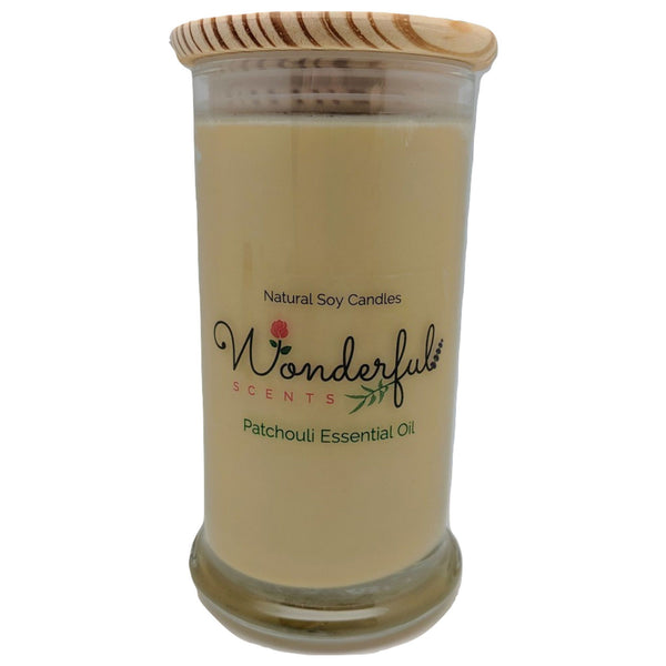 Wonderful Scents 21oz  Patchouli Essential Oil Candle with Cotton Wick