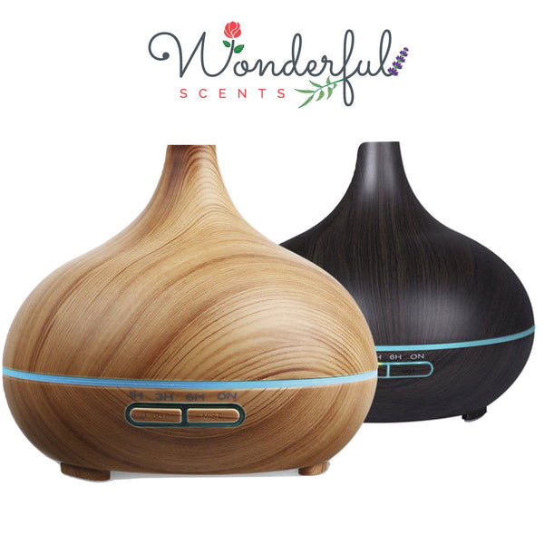 Wonderful Scents 300 ml Light and Dark Wood Diffuser With Logo