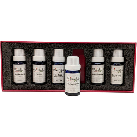 Wonderful Scents Black Label 6 Essential Oil Gift Box Frankincense Outside