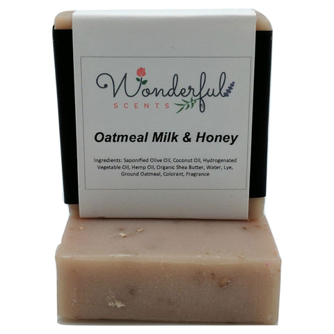 Wonderful Scents Cold Press Soap Oatmeal Milk Honey 2 Bars