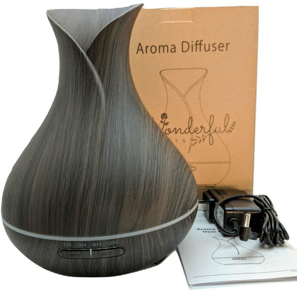 Wonderful Scents Dark Wood 400 ml Essential Oil Diffuser Components