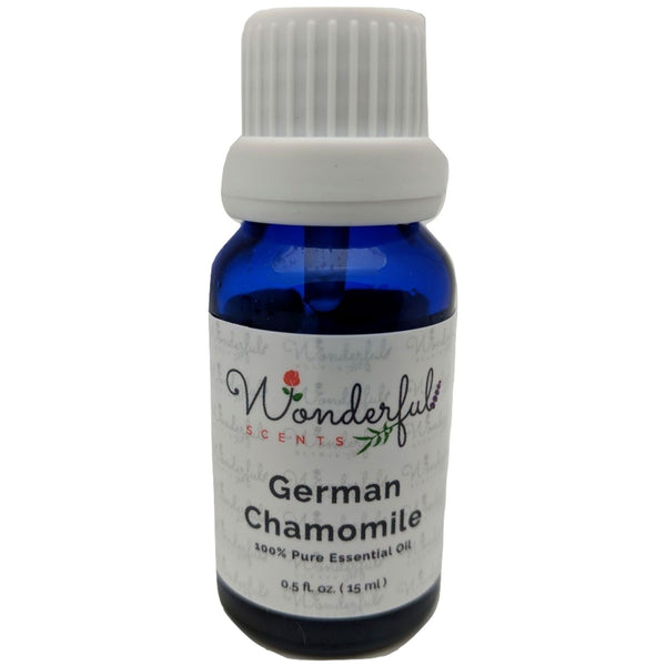 Wonderful Scents German Chamomile Essential Oil 15 ml Bottle New Label