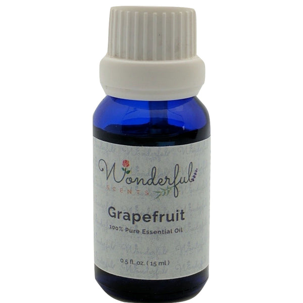 Wonderful Scents Grapefruit Essential Oil 15 ml Bottle